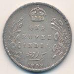 Британская Индия, 1 рупия (1908 г.)