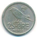 Норвегия, 25 эре (1960–1973 г.)