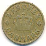 Дания, 2 кроны (1924 г.)
