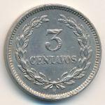 Сальвадор, 3 сентаво (1889 г.)