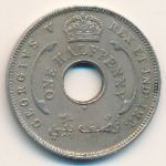 British West Africa, 1/2 penny, 1911