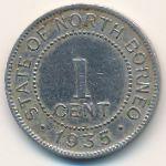 Северное Борнео, 1 цент (1935 г.)