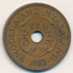 Родезия и Ньясаленд, 1 пенни (1963 г.)