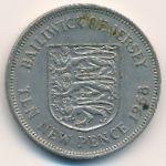 Джерси, 10 новых пенсов (1968–1975 г.)