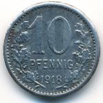 Изерлон., 10 пфеннигов (1918 г.)