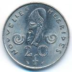 Новые Гебриды, 20 франков (1977 г.)