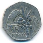 Сейшелы, 5 рупий (1977 г.)