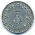 Мальта, 5 центов (1972 г.)