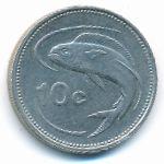 Мальта, 10 центов (1991–1998 г.)