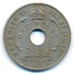 Британская Западная Африка, 1 пенни (1943 г.)