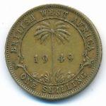 Британская Западная Африка, 1 шиллинг (1949–1951 г.)
