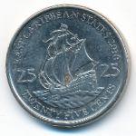 Восточные Карибы, 25 центов (2010 г.)