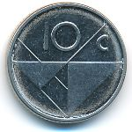 Аруба, 10 центов (2009–2016 г.)