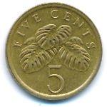 Сингапур, 5 центов (1986 г.)
