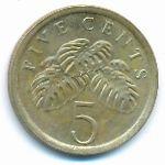 Сингапур, 5 центов (1993–2007 г.)