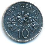 Сингапур, 10 центов (1999–2007 г.)