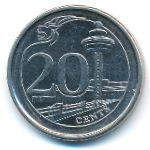 Сингапур, 20 центов (2013 г.)