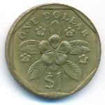 Сингапур, 1 доллар (1987–1990 г.)