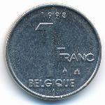 Бельгия, 1 франк (1998 г.)