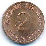 ФРГ, 2 пфеннига (1980 г.)