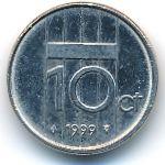 Нидерланды, 10 центов (1999 г.)