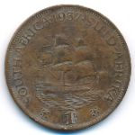 ЮАР, 1 пенни (1937–1945 г.)