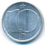 Чехословакия, 10 гелеров (1975–1989 г.)