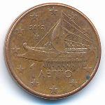 Греция, 1 евроцент (2012 г.)