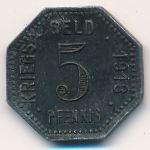 Менген., 5 пфеннигов (1918 г.)