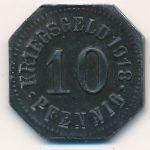 Зигмаринген., 10 пфеннигов (1918 г.)