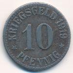 Кассель., 10 пфеннигов (1919 г.)