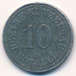 Кюнцельзау., 10 пфеннигов (1918 г.)