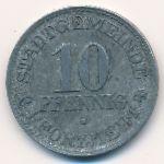 Пфорцгейм., 10 пфеннигов (1917 г.)