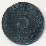Ашаффенбург., 5 пфеннигов (1917 г.)