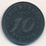 Бармен., 10 пфеннигов (1917 г.)