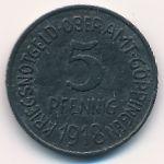 Гёппинген., 5 пфеннигов (1918 г.)