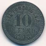 Хомбург., 10 пфеннигов (1918 г.)