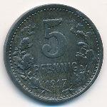 Изерлон., 5 пфеннигов (1917 г.)