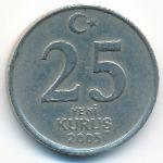 Турция, 25 новых куруш (2005 г.)