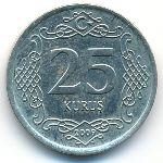 Турция, 25 куруш (2009–2014 г.)