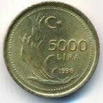 Турция, 5000 лир (1996–1997 г.)