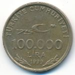 Турция, 100000 лир (1999–2000 г.)