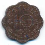 Цейлон, 10 центов (1951 г.)