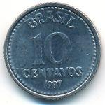 Бразилия, 10 сентаво (1987 г.)