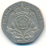 Великобритания, 20 пенсов (1982–1983 г.)