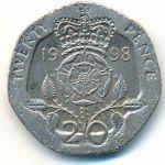 Великобритания, 20 пенсов (1998–2007 г.)