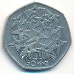 Великобритания, 50 пенсов (1998 г.)