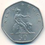 Великобритания, 50 новых пенсов (1969 г.)