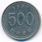 Южная Корея, 500 вон (1991 г.)
