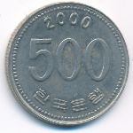 Южная Корея, 500 вон (2000 г.)